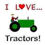 I Love Green Tractors