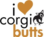 I Heart Corgi Butts - Black & White Cardigan
