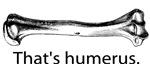 That's humerus.