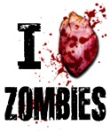 What better way to show your love for Zombies that with a gory blood spattered heart.  To heck with cutsie hearts and all that go with.  The I heart Zombies is ther perfect gift for that someone special.  Especially if they to are a zombie or if they also