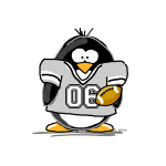 Silver Football Penguin