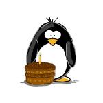 Chocolate Birthday Cake Penguin