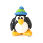 Clay Green Beanie Penguin