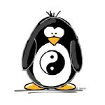 Martial Arts Ying Yang penguin