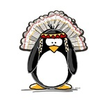 Native American Chief Penguin