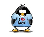 I Love Hugs Penguin