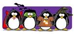 4 Halloween Penguins