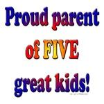Proud large family parent