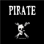 Pirate with jolly roger