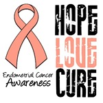 Hope Love Cure Endometrial Cancer Shirts &amp; Gifts