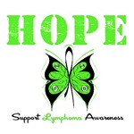 Hope Butterfly Lymphoma Shirts &amp; Gifts