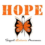 Hope Butterfly Leukemia Shirts & Gifts
