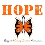 Hope Butterfly Kidney Cancer Shirts & Gifts