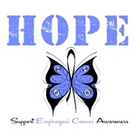 Hope Butterfly Esophageal Cancer Shirts & Gifts