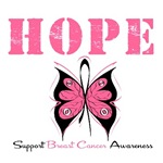 Hope Butterfly Breast Cancer Shirts & Gifts