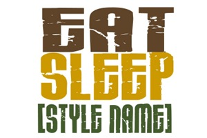 Eat Sleep [StyleName] Karate T-Shirts & Apparel