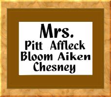 Mrs. Affleck, Pitt, Bloom