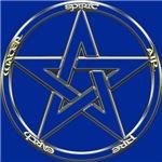 Blue Earth, Air & Fire Pentagram