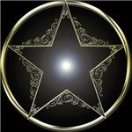 Golden 5 Point Star 2