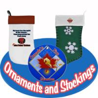 Hockey Christmas Ornaments and Stockings
