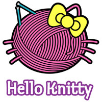 hello knitty t-shirt parody of hello kitty
