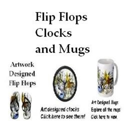 Art Mugs, Flip Flops and Clocks
