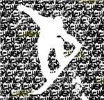 Snowboarder - Distressed Chasm background
