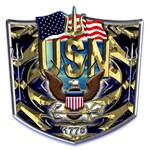 USN Navy Eagle Shield 1775