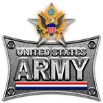 US Army Metal Star Eagle