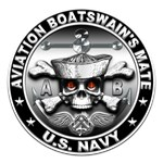 USN Aviation Boatswain's Mate Skull