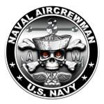 USN Naval Aircrewman Skull