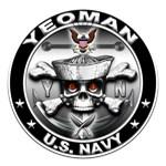 USN Yeoman Skull YN