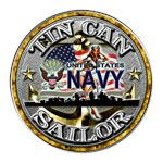USN Tin Can Sailor Babe