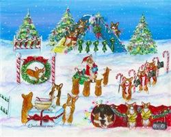 A Christmas Corgi Agility Extravaganza!