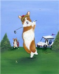 Fore! Pembroke Welsh Corgi Golfer