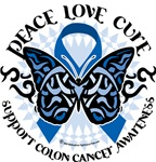 Colon Cancer Tribal Butterfly