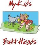 Goats Kids Butt Heads