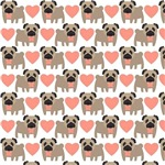 Pugs and Hearts