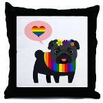 Gay Pride Pug - Black