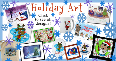 One-of-a-kind Holiday Art