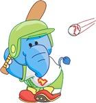 Lil Blue Elephant Baseball