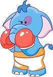 Lil Blue Elephant Boxer