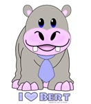 I LOVE BERT THE HIPPO
