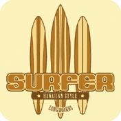 Long Board Surfer