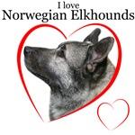 I love Elkhounds