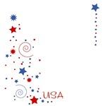 USA Sparkles T-Shirts