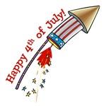 4th of July Rocket T-Shirt