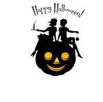 Victorian Halloween Silhouette T-Shirts