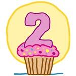 2nd Birthday Cupcake T-Shirts