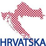 Hrvatska Map T-Shirts